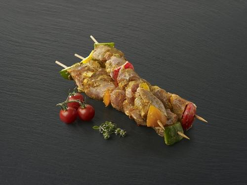 Brochette de porc  marinée à l'indienne